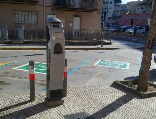 Punto de recarga público en Calella